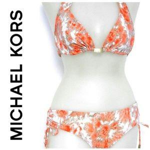 Michael Kors Horizon dye halter top/hipster bottom